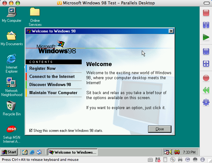 Install Windows 98 SE in Parallels Desktop 3 0 for Mac